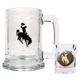 Wyoming Cowboys Boilermaker Set