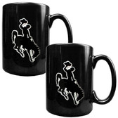 Wyoming Cowboys 2pc Coffee Mug Set