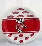 """Wisconsin Badgers 7"""" Dessert Paper Plates"""