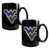 West Virginia Mountaineers 2pc Coffee Mug Set