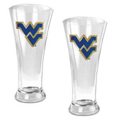 West Virginia Mountaineers 2pc Premiere Pilsner Glass Set