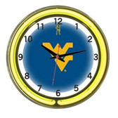 "West Virginia Mountaineers 18"" Neon Wall Clock"