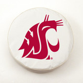 Washington State Cougars White Tire Cover, Small