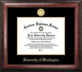 Washington Huskies Gold Embossed Diploma Frame