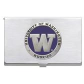 Washington Huskies Business Card Case Set