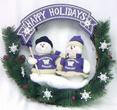 """Washington Huskies 20"""" Team Snowman Wreath"""