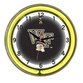 "Wake Forest Demon Deacons 18"" Neon Wall Clock"