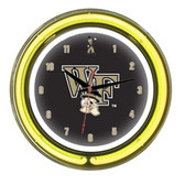 "Wake Forest Demon Deacons 14"" Neon Wall Clock"