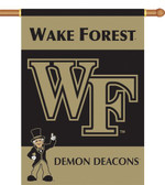 "Wake Forest 2-Sided 28"" x 40"" Banner w/ Pole Sleeve"