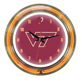 "Virginia Tech Hokies 14"" Neon Wall Clock"