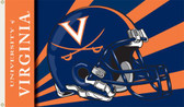 Virginia Cavaliers 3 Ft. x 5 Ft. Flag w/Grommets - Helmet Design