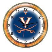 "Virginia Cavaliers 18"" Neon Wall Clock"
