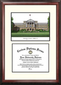 University of Wisconsin, Madison Scholar Framed Lithograph with Diploma