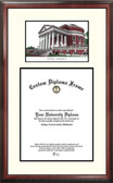 University of Virginia Scholar Framed Lithograph with Diploma