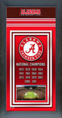 University of Alabama Crimson Tide 2012 BCS National Champions Framed Championship Banner