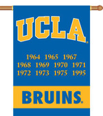 "UCLA Bruins Championship Years 28""x40"" Banner w/ Pole Sleeve"