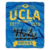 "UCLA Bruins 50""x60"" Royal Plush Raschel Throw Blanket -  Label Design"
