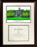 U.S. Military Academy Scholar Framed Lithograph with Diploma