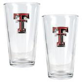 Texas Tech Red Raiders 2pc Pint Ale Glass Set