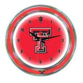 "Texas Tech Red Raiders 14"" Neon Wall Clock"