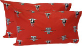 Texas Tech Printed Pillow Case - (Set of 2) - Solid