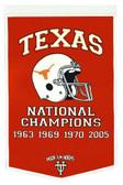 """Texas Longhorns 24""""x36"""" Wool Dynasty Banner"""
