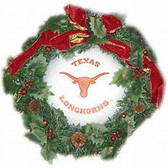 "Texas Longhorns 22"" Fiber Optic Holiday Wreath"