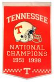 """Tennessee Volunteers 24""""x36"""" Wool Dynasty Banner"""