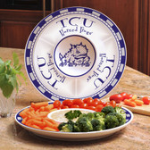TCU Horned Frogs Ceramic Chip n Dip Server