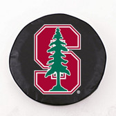 Stanford Cardinals Black Tire Cover, Small