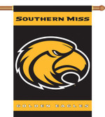 "Southern Miss Golden Eagles 2-Sided 28"" x 40"" Banner w/ Pole Sleeve"