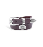 South Carolina Fighting Gamecocks Tip Leather Concho Belt Brown 42""