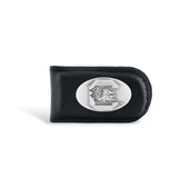 South Carolina Fighting Gamecocks Leather Black Magnetic Money Clip