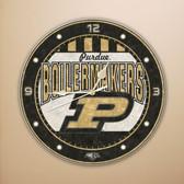 """Purdue Boilermakers 12"""" Art Glass Clock"""