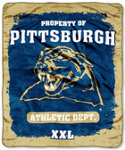 "Pittsburgh Panthers 46"" x 60"" Micro Raschel Throw"