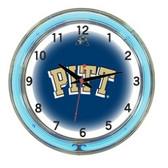 "Pittsburgh Panthers 18"" Neon Wall Clock"