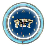 "Pittsburgh Panthers 14"" Neon Wall Clock"