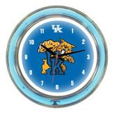 "Kentucky Wildcats 14"" Neon Wall Clock"