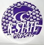 "Kansas State Wildcats 9"" Dinner Paper Plates"