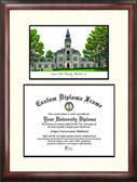 Kansas State University Scholar Framed Lithograph with Diploma