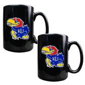 Kansas Jayhawks 2pc Coffee Mug Set