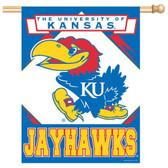 """Kansas Jayhawks 27""""x37"""" Banner"""