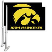 Iowa Hawkeyes   Car Flag w/Wall Bracket Set Of 2 97124