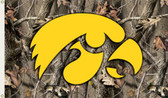 Iowa Hawkeyes   3 Ft. x 5 Ft. Flag w/Grommets - Realtree Camo Background