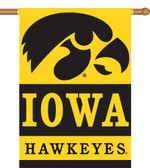 "Iowa Hawkeyes   2-Sided 28"" x 40"" Banner w/ Pole Sleeve"