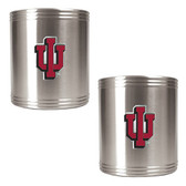 Indiana Hoosiers 2pc Stainless Steel Can Holder Set