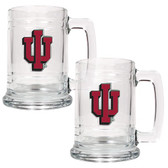 Indiana Hoosiers 2pc Glass Tankard Set