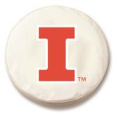 Illinois Fighting Illini White Tire Cover, Small