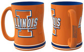 Illinois Fighting Illini Coffee Mug - 15oz Sculpted