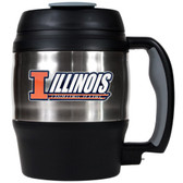 Illinois Fighting Illini 52oz. Stainless Steel Macho Travel Mug with Bottle Opener